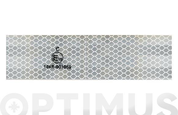 Cinta adhesiva reflectante automocion homologada 25 m x 50 mm blanca