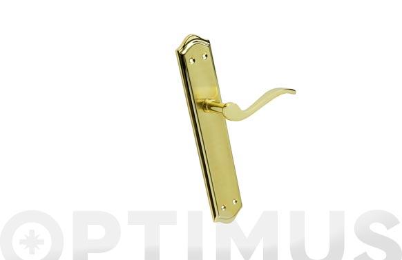 Manilla aluminio/hierro con placa jgo palmera dorado brillo/satinado