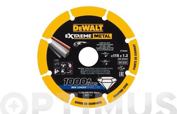 Disco diamante corte metales ø 115 x 1,3 mm