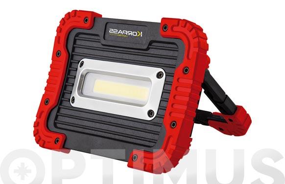 Foco proyector led 10 w recargable con soporte 800 lm ip65