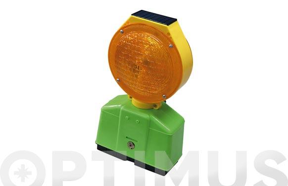 Baliza señalizacion intermitente led ambar solar