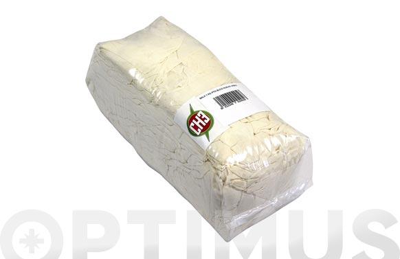 Trapo limpieza punto algodon blanco/crudo 1 kg