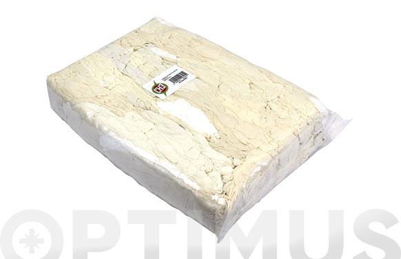 Trapo limpieza punto algodon blanco/crudo 10 kg