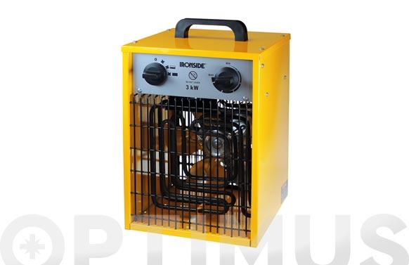 Calefactor profesional 1500/3000 w con termostato y asa de transporte