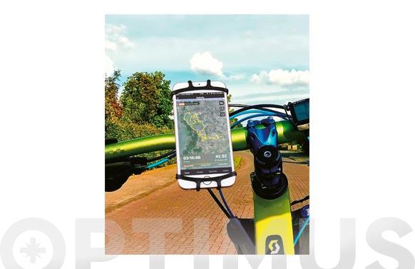 "Soporte telefono para bicicleta universal hasta 6"" negra"