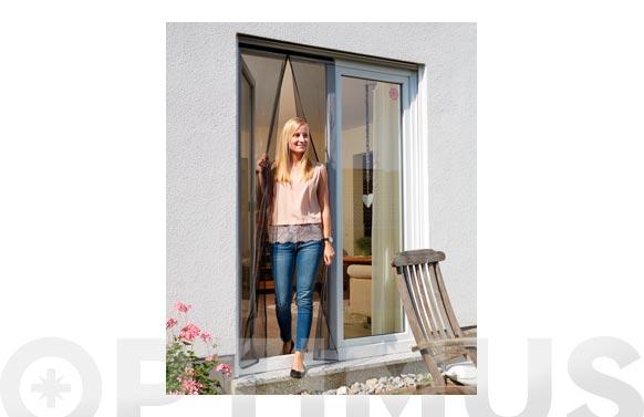 Mosquitera cortina magnetica antracita 90 x 210 cm