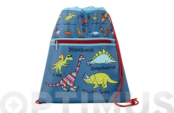 Mochila cuerdas infantil dinosaurios