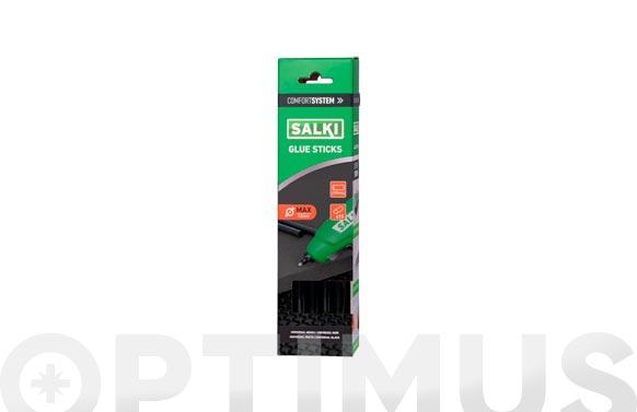 Adhesivo termofusible barra 15 uds ø 12 mm x 190 mm negra