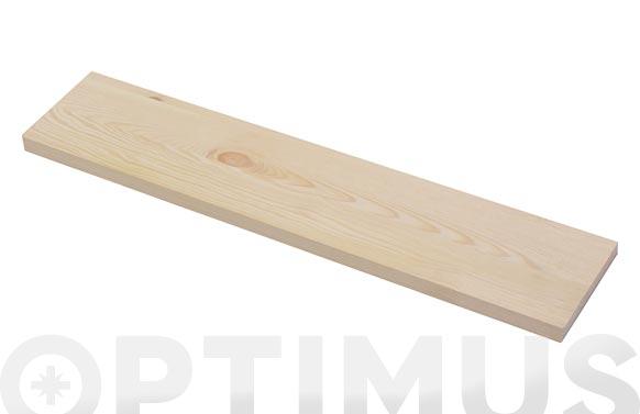 Estante rectangular 4xsxs2 pino 80 x 23,5 x 1,80 cm