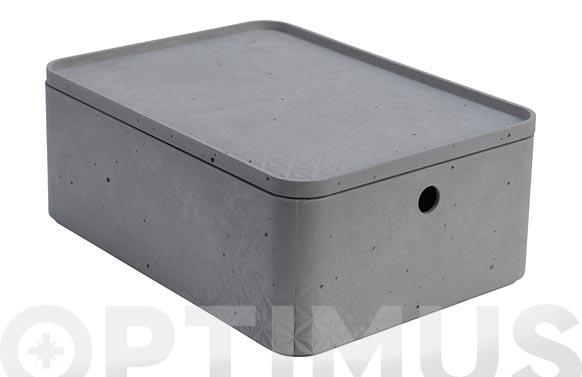 Caja beton cube l 8,5l gris cemento