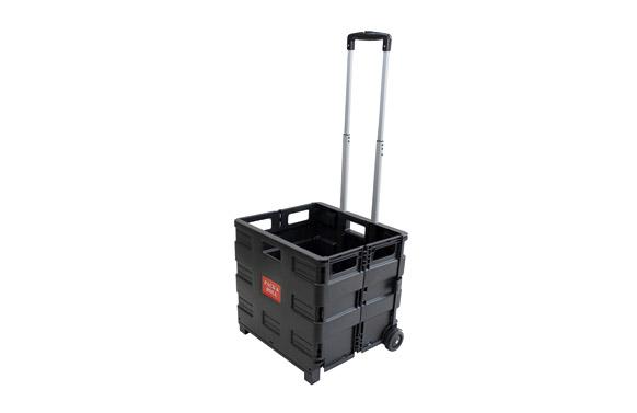 Carro caja plegable 42 x 37 x 40,5cm negro