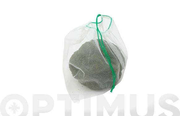Bolsa malla reutilizable para vegetales set 5 uds blanca