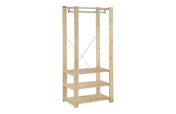 Estanteria vestidor pino reforzada 174,2 x 76,7 x 43 cm
