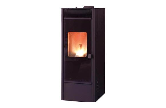 Estufa pellet tmc1250 power glass air canal negro 12,6 kw