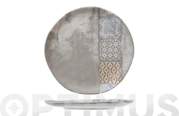 Plato stoneware malaga llano 26 cm