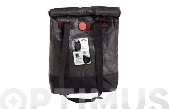 Bolsa mochila porta alimentos negra