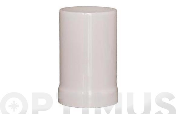 Adaptador caldera estanca vertical aluminio ø 110mm 117mm natural