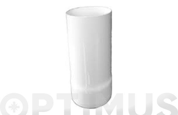 Adaptador caldera estanca vertical aluminio ø 100mm blanco