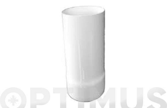 Ampliacion abocardada estanca aluminio ø100/110mm blanco