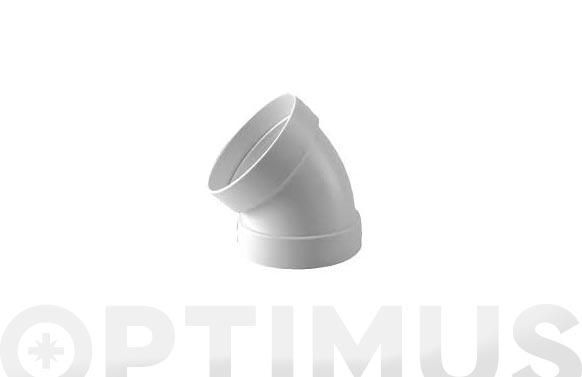 Codo estanco 45. aluminio blanco ø 110 mm