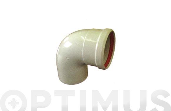 Codo estanco 87. aluminio blanco ø 110 mm
