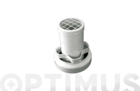Deflector coaxial aluminio blanco ø 100 mm