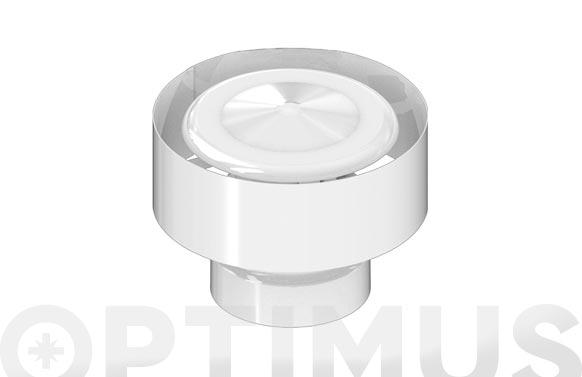 Deflector estanco anti-retorno aluminio blanco ø 100 mm