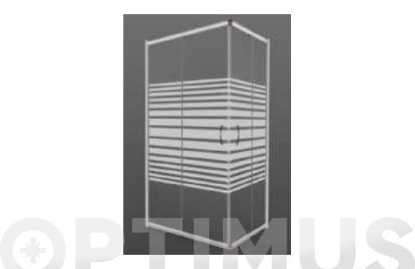 Mampara para bañera vidrio blanca 185 x 100 x 70 cm