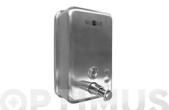 Dosificador de jabon con deposito interior acero inox satinado 1.2 lts