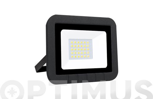 Foco proyector led plano 10 w 1000 lm luz fría ip65