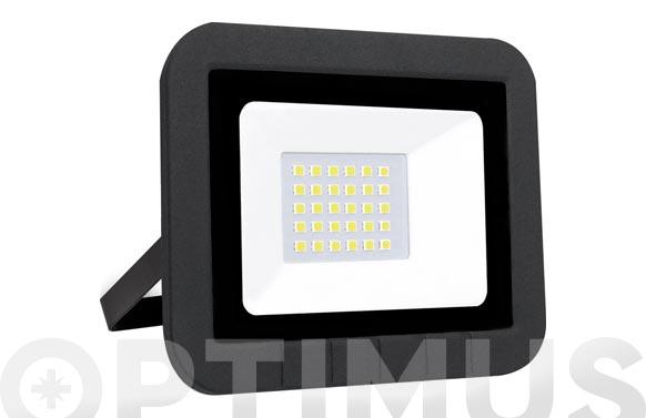 Foco proyector led plano 30 w 3000lm luz fría ip65