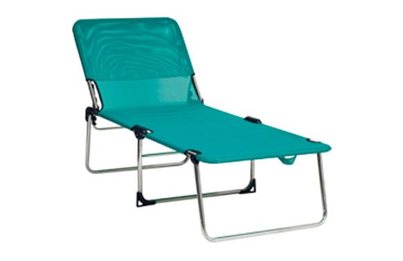 Cama aluminio alta posiciones fibreline azul