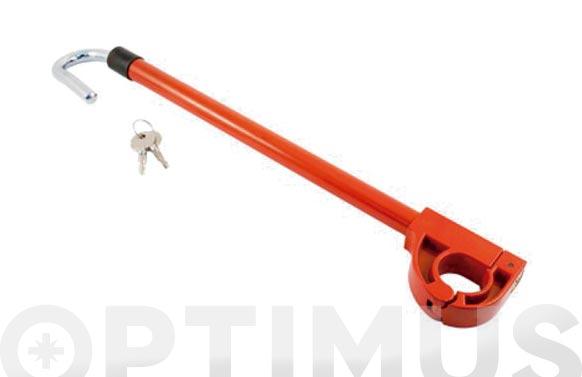 Barra antirrobo pedal volante con llave