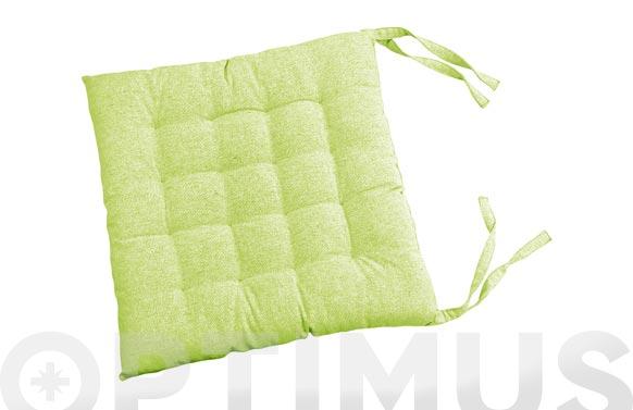 Cojin silla algodon verde pistacho 40 x 40 cm