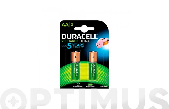 Pila recargable ultra duracell aa lr06 bl.2