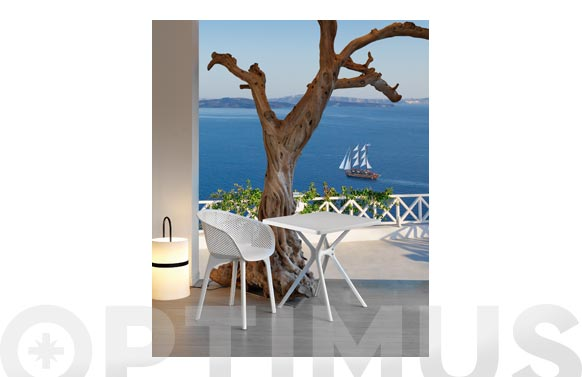 Mesa cuadrada hugo blanco 70 x 70 cm