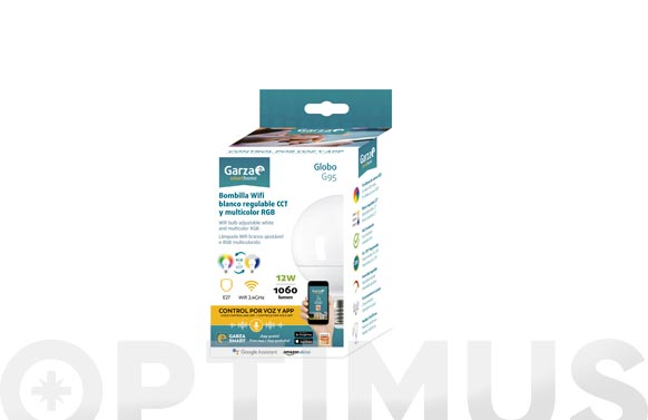 Lampara globo wifi regulable e27 12w 1060lm