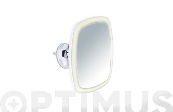 Espejo baño aumento x5 con ventosa e iman, led 17 x 20,5 x 11 cm