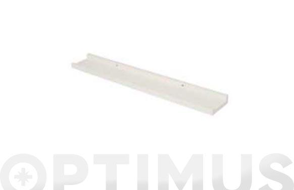 Estante fotografia blanco 60 x 9 x 3 cm