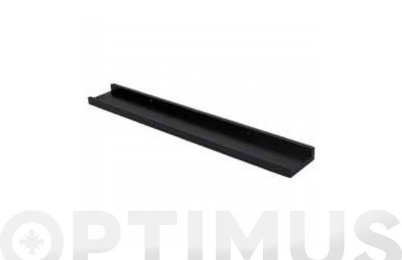 Estante fotografia negro 60 x 9 x 3 cm