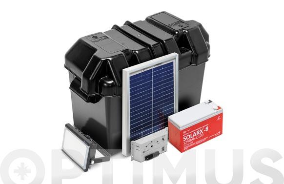 Kit solarlife con accesorios 5w-12v