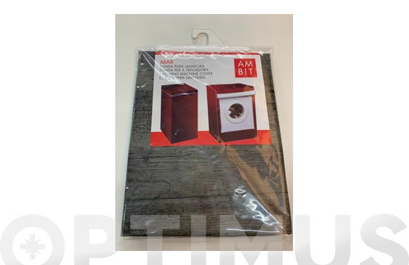 Funda lavadora carga frontal madera negra
