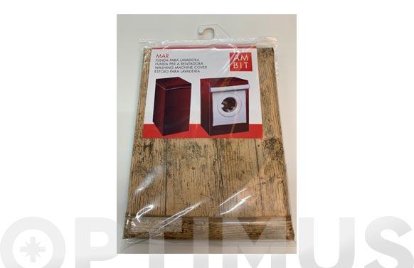 Funda lavadora carga superior madera media
