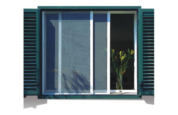 Mosquitera corredera para puerta blanca 100 x 220 cm
