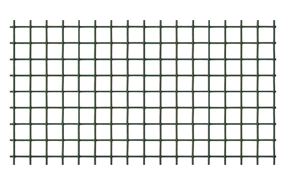 Malla electrosoldada galvanizada 13 x 13 mm verde 1 x 5 m