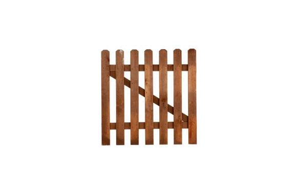 Puerta valla mustang marron 100 x 100 cm
