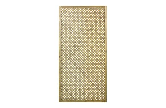 Celosia madera pino clematite con marco 90 x 180 cm