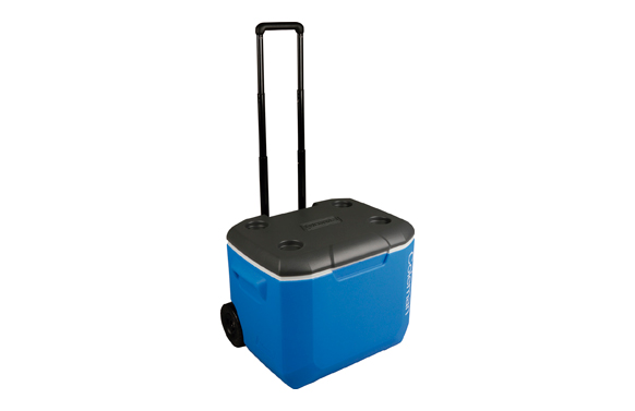 Nevera rigida con ruedas 60qt black + blue 56 l