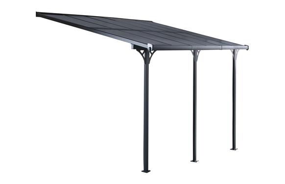 Marquesina aluminio policarbonato elliot 5x3 m