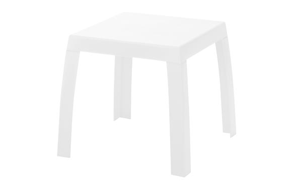 Mesa baja maya blanco 53 x 53 x 48 cm
